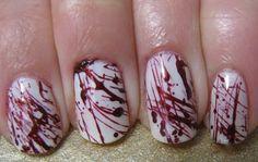 Hmmmmmm...Halloween Zombie Nails.  My FAV Holiday!