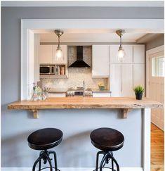23 Small Kitchen Design Ideas You'll Wish You Tried Sooner smallkitchen – Ichbins - Decoration Kitchen Redo, Living Room Kitchen, Home Decor Kitchen, Kitchen Interior, New Kitchen, Home Kitchens, Kitchen Remodel, Kitchen Ideas, Kitchen Bar Counter