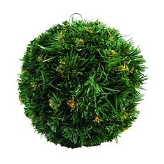 Europalms X-Mas 83500270 Tannenkugel ¨Dichtgesteckte, tiefgehende Zweige ¨Flammhemmend ¨Mit Aufhängevorrichtung ¨Grün mit natürlich wirkenden braunen Spitzen ¨Durchmesser 20 cm