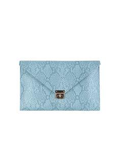 SuiteBlanco- Bandolera solapa grabado serpiente Y Image, Continental Wallet, Clutches, Purses, My Style, Bags, Shopping, Women, Printmaking