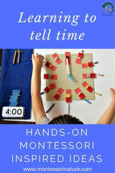 Learning To tell Time Montessori Nature blog - Free Printable - Preschooler educational activity - Montessori Inspired Work