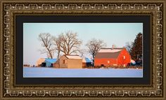 The Red Barn Framed Print By Bonfire #Photography