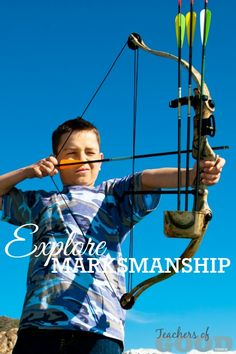 Explore Marksmanship - Part of the 31 Days of Exploring Free Afternoon Activities - a collection of hands-on activities and crafts that will open up the world of education through play. | www.teachersofgoodthings.com
