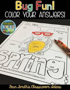 Colors and Numbers - Spring Bug Fun Colors and Numbers - Color Your Answers Printables for some Spring Math Fun in your classroom! ~ This resource includes: TEN No Prep Printables that can be used for your centers, small group, RTI pull out, seat work, substitute days or homework, answer keys included too! #TPT #FernSmithsClassroomIdeas