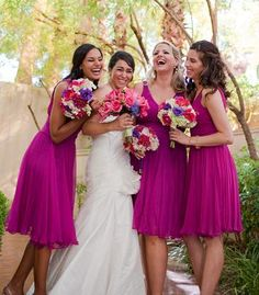 Destination Weddings Honeymoons Raspberry Bridesmaid Dressesorchid Dressesmagenta