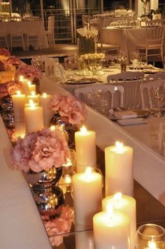 I must have candles at my wedding for that romantic feel but fun and rockabilly flowers, and maybe red and black candles