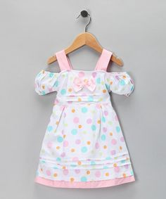 Take a look at this Pink & Blue Polka Dot Dress - Toddler & Girls by Di Vani on #zulily today!