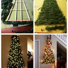 how to make a cat proof christmas tree christmastree christmas - Half Christmas Tree