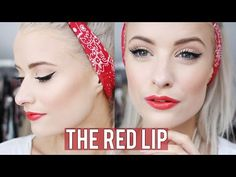 Classic Red Lip Makeup | Inthefrow - YouTube