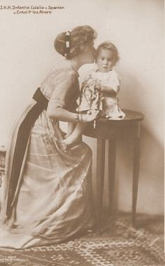 Infanta Eulalia with her child