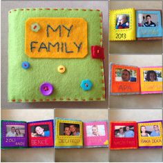Quiet book photo album - my boy's 1st Christmas gift. http://lfbworld.wix.com/creativeorganisedme