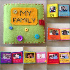 Quiet book photo album - my boy's 1st Christmas gift. #feltbooks #felt