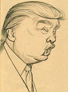 The blog of Zack Wallenfang: June 2009,illustration of Donald Trump