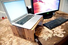 pallet laptop stand - Google Search