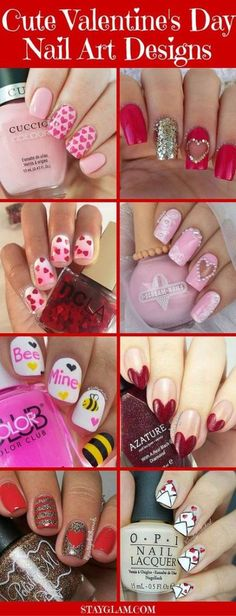 35 Cute Valentine's Day Nail Art Designs Nail Art Designs, Nail Designs Spring, Pedicure Designs, Nails Design, Pink Ombre Nails, Red Nails, French Nails, Gorgeous Nails, Pretty Nails