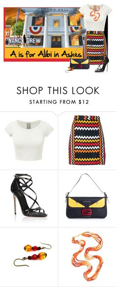 """A-Z Nancy Drew:A"" by stephaniefb ❤ liked on Polyvore featuring Alibi, MSGM, Dolce&Gabbana and Fendi"