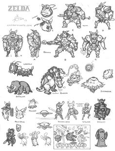 Zelda Ganon and company (bosses)