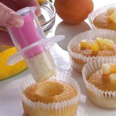 """Cupcake Corer - Core your cupcakes with ease with this handy tool, then fill the cake with your favourite fillings! Dishwasher safe. Height 6.5cm(2 ½""""). £2.95"""