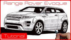 Tutorial como desenhar carros: Range Rover Evoque
