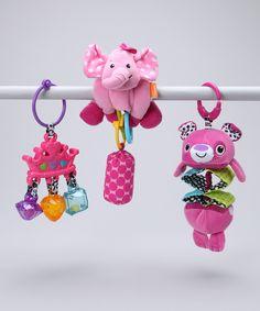 Pretty Rattle & Stretch Toy Set. Infantino.
