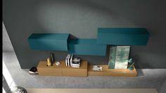 Ensemble mural de salon contemporain / en chêne INCLINART  Presotto