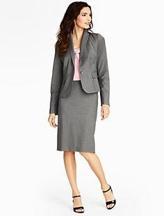 Talbots - Seasonless Wool Single-Button Jacket | Suits and Separates | Petites