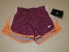 Nike Dri Fit Stay Cool girls running shorts fitness 6 362778-p76 bold berry*^ #NikeDriFit