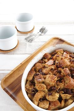 Rustic Vegan Bread Pudding from Vegan Casseroles by Julie Hasson