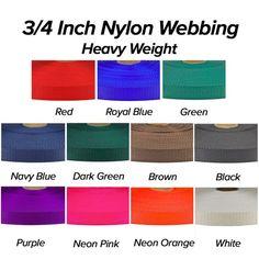 25 Yards 3//4 Black Heavy Nylon Webbing