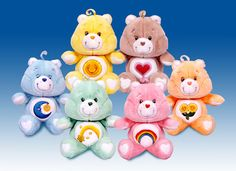 Had one or two of these plushies as well.  Useless bit of trivia:  Did you know that, in their current reincarnation, you cannot find Grumpy Bear in the Care Bears?  They don't produce him anymore; guess he wasn't P.C. enough (he was usually my signature bear).