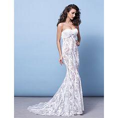 Trumpet/Mermaid Strapless Court Train Sequined Evening Dress (2463391) – USD $ 299.99