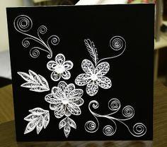 Papírvilág: black and white quilling / fekete-fehér quilling tabló