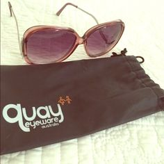 NEW Quay Angel Sunglasses Beautiful and unique sunglasses. Never worn! Just too bold for my style. Will come with the original pouch (which is slightly faded from storage) Quay Accessories Sunglasses