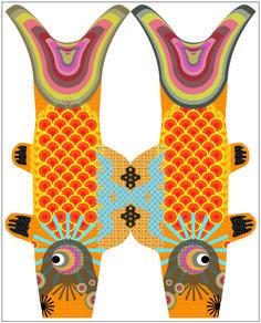 © solange abaziou 2011 -www.soyou.fr dessins librement inspirés des koinobori édités parMadame Mo