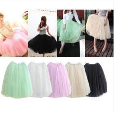 $7.99 Fashion Women Dress Bouffant Skirt Hot Princess Fairy Style 5 Layers Tulle | eBay