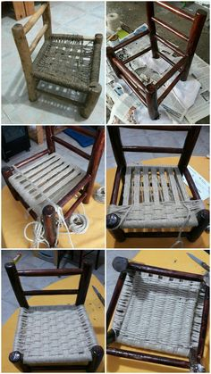 Resultado de imagen de rempaillage chaise avec tissu - Salvabrani