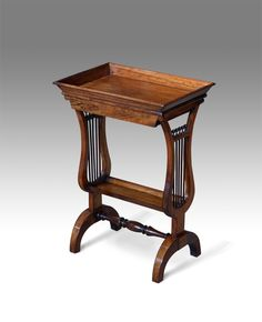19th century rosewood tricoteuse table
