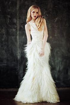 Dazzling Handmade Silk and Wool locks Wedding by EveAndersFashion, €2995.00