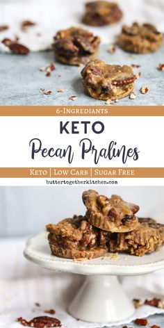 Keto Pecan Pralines Recipe – Sweet and salty keto candy perfection! Keto Pecan Pralines Recipe – Sweet and salty keto candy perfection! Desserts Keto, Keto Friendly Desserts, Sugar Free Desserts, Keto Snacks, Plated Desserts, Low Carb Candy, Keto Candy, Low Carb Sweets, Pecan Recipes