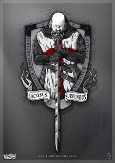 #despertar Jacques DeMolay - Iacobus Burgundus | Último Grande Mestre dos Templários. Rei Filipe IV de França, profundamente endividado aos Templários, prendeu De Molay e muitos outros Templários Franceses em 1307 e torturou-os para fazerem confissões falsas. O súbito fim tanto da velha ordem dos Templários e execução dramática do seu último líder tornou De Molay uma figura lendária. http://en.wikipedia.org/wiki/Jacques_de_Molay