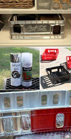 How to Spray Paint Plastic : Valspar's  clear plastic primer & Valspar's Brilliant Metal (silver cap) which is an enamel.
