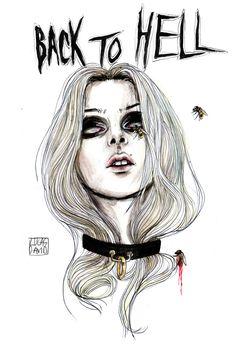 """Back to hell"" Lucas David 2015 one of my faves Dibujos Dark, Art Sketches, Art Drawings, Lucas David, My Demons, Creepy Art, Scary, Taylor Momsen, Aesthetic Art"