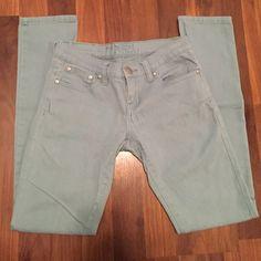Rue 21 skinny jeans Rue 21 size 1/2 mint green skinny jeans Rue21 Jeans Skinny