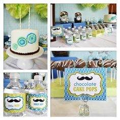 Photo 1 of 15: Mustaches and Ties / Birthday Jakes Little Man Mustache Bash | Catch My Party