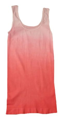 Tees by Tina Ombre Dyed Tank - Sunset (One Size Fits Most, Sunset). 92% Nylon, 8% Spandex. Stays perfectly in place! Longer length keeps you completely covered. Tank-style straps lay flat and help keep bra concealed. One size fits most (really!) Ultra-comfortable fit wear after wear. *WE OFFER FREE STANDARD USPS SHIPPING ON ALL CONTINENTAL ORDERS!.