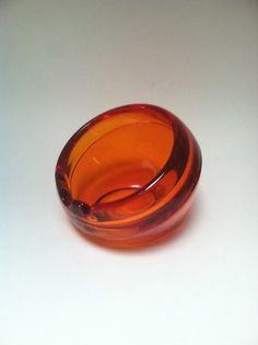 VINTAGE VIKING GLASS Orange Globe Sphere by SugarlilyVintage, $29.00