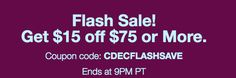 Ebay Flash Sale December 28th until 9PM PT.  Load up your cart and enter the coupon code at checkout!