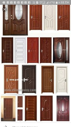 39 Ideas For Main Door Grill Design Modern # Home Door Design, Wooden Main Door Design, Grill Door Design, Door Gate Design, Bedroom Door Design, Door Design Interior, Door Grill, House Design, Exterior Design