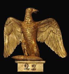 Imperial Eagle - 22nd Regiment de Ligne. Circa 1804. 31cm x 25.5cm. Museum of The Queen's Lancashire Regiment. Preston, Lancashire, England.