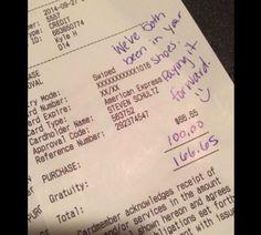 Pourquoi un couple a t-il laissé un pourboire énorme à leur serveur alors qu'ils avaient tant attendu leur repas?